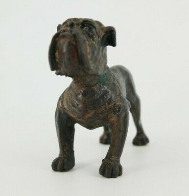 Antique/vintage cold cast bronze Bulldog with makers marks