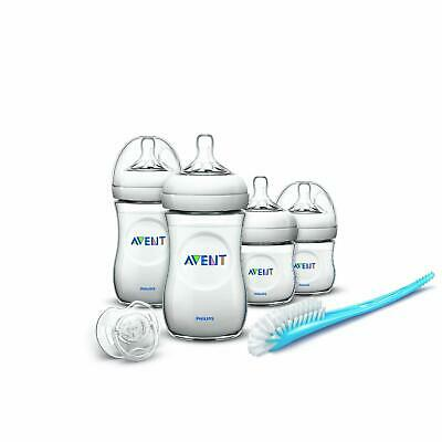 Baby Bottles Starter Set Philips AVENT Natural Newborn Feeding Teats Anti-Colic