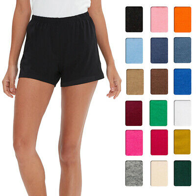 b3f3d1683af Pull-On Womens Shorts Cotton Jersey Elastic Casual Running Sport Short Plus  Size