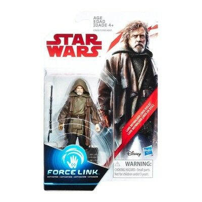 Star Wars The Last Jedi Exile Luke Skywalker Action Figure Force Link Toy NEW