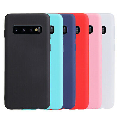 For Samsung Galaxy S10E S10 S9 S8 + Slim Silicone Rubber Frosted TPU Case Cover