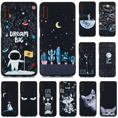 For Samsung Galaxy A7 A8 A9 J4 J6 2018 Slim Soft Silicone Painted TPU Case Cover