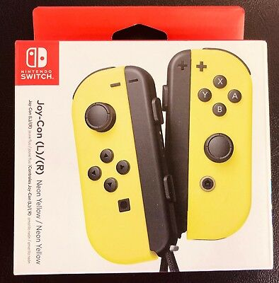 Nintendo Switch Joy-Con Pair (L) + (R), Neon yellow Black and Neon Yellow Black