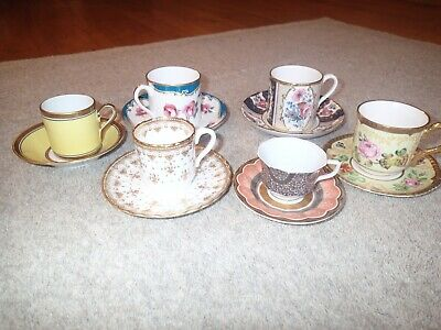 Collectors Bundle Of 7 X Coffee Cups & Saucers   Spode & More....