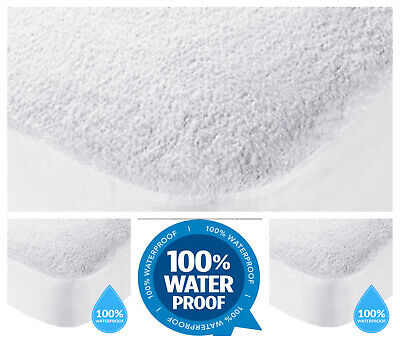 Waterproof Terry Towel Mattress Protector Bed Wet Mattress Cover Protector Sheet