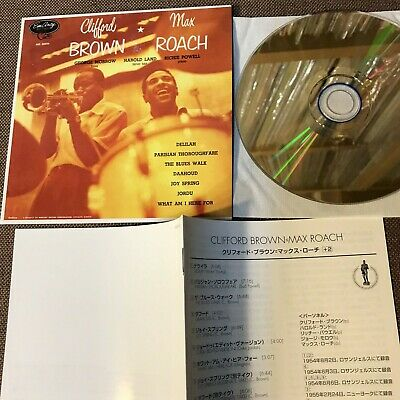 CLIFFORD BROWN MAX ROACH s/t+2 JAPAN Mini-LP CD 24k GOLD UCCU-9531 w/BOOKLET