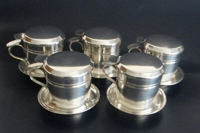 Five French Antique Individual Coffee / Tea Filters