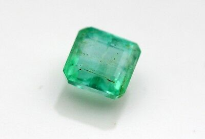 2.00 CT Natural Emerald Loose Octagon Cut Gemstone Green Color