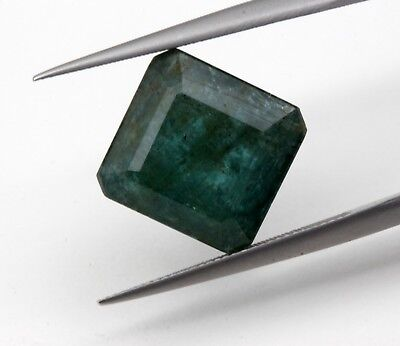 7.05 CT Natural Emerald Octagon Cut Dark Green Color Loose Gemstone