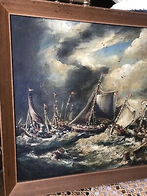 Oil Painting Board By RIMA Norman Henry French 1906-84 Antique Vintage Maritime
