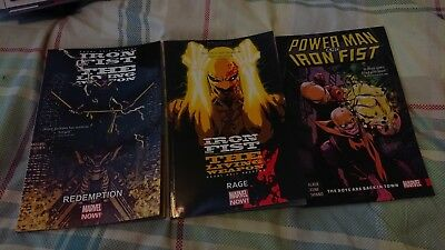 Marvel Now Iron Fist Living Weapon Rage & Redemption + Power Man/Iron Fist TPB