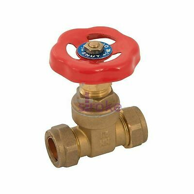 Gate Valve 22mm Brass Construction With Compression Fittings Durable