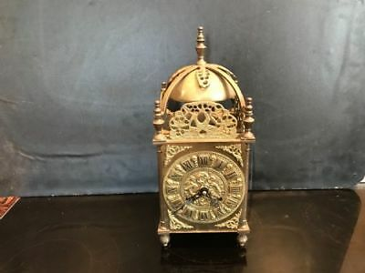 ** Excellent Quality Rare Heavy Brass German made  Lantern  8 Day Clock