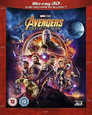 AVENGERS: INFINITY WAR 3D / 2D Blu-ray - SHIPS FROM US SELLER With Slipcover