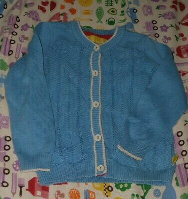 Little Bird 9-12 Months Blue Vintage Style Cardigan  girls boys unisex