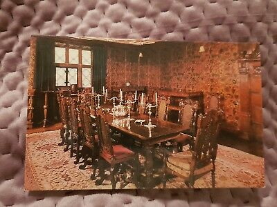 Levens Hall - The Dining Room - Vintage Postcard