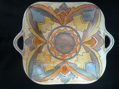 Charlotte Rhead Fully Signed Tube Lined Bursley Ware Art Deco Serving Dish
