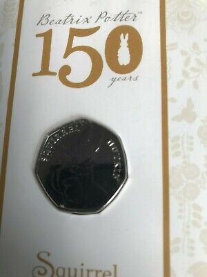 Squirrel Nutkin 50p Coin Beatrix Potter 2016 BUNC Royal Mint Presentation Pack