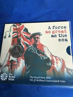 2015 The Royal Navy Bu £2 Two Pound Coin Pack Mint Condition Sealed Rare