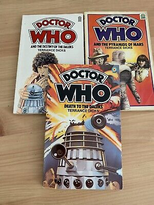 3 Doctor Who Target Paperback Books