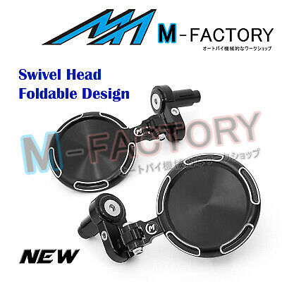 """Fit Motorcycles 7/8"""" Silver Billet Racing Sonic Tinted Bar End Mirrors"""