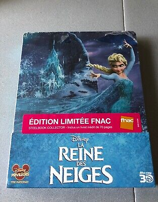 Reine des Neiges Disney Frozen 3D Blu-ray Steelbook™ FNAC Exclu France Booklet