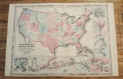Colored Map Of The Us.Antique Colored Map Of Hindostan Or British India Johnson S Family
