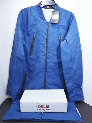 53f1beb65bcb Nike Air Jordan Retro 12 Jumpman Blue Parka Bomber Jacket 724718-442 Men s  Sz S