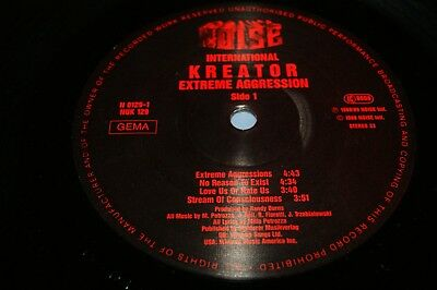 KREATOR-EXTREME AGGRESSION - Noise International 89 Lp ORIG press W/lyric inner!