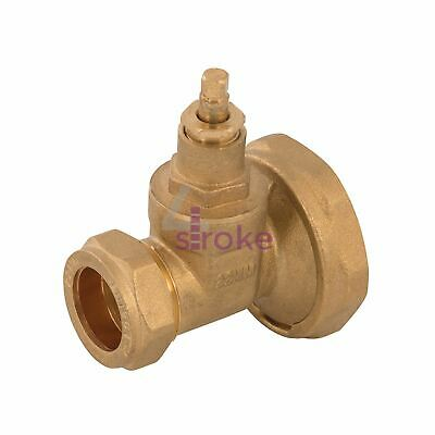 "Brass Pump Gate Valve 1-1/2"" Brass Construction With Compression Connection"