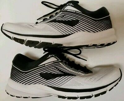 94854d62eb9 Brooks Mens Launch 5 White Black Running Shoes Sz 10 - Great condition!