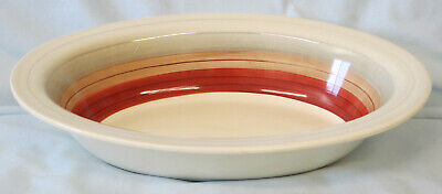 Susie Cooper Wedding Ring Gray Rust Oval Serving Bowl