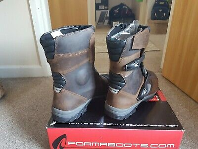 Brand New Brown Size 12 Forma Adventure Low Motorcycle Boots