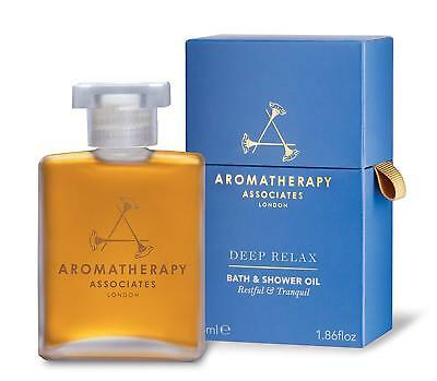 Aromatherapy Associates Deep Relax Bath & Shower Oil 55ml *New & Sealed*