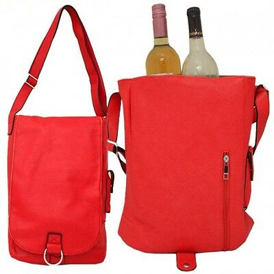 RED Insulated Double  Wine Bottle Carrier (Thermal Insulation)