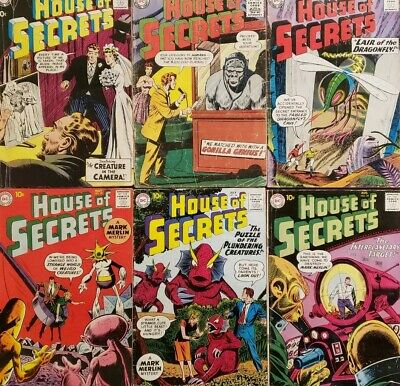 LOT of 6 House of Secrets (Books between #'s 15-35)