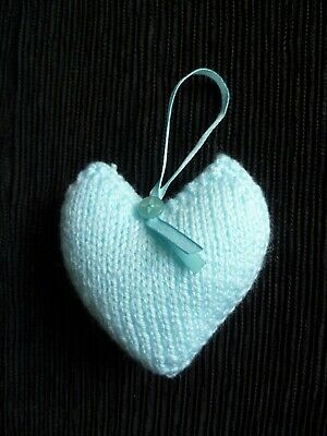 Baby clothes BOY premature/tiny hang decoration,soft,knitted padded heart/ribbon