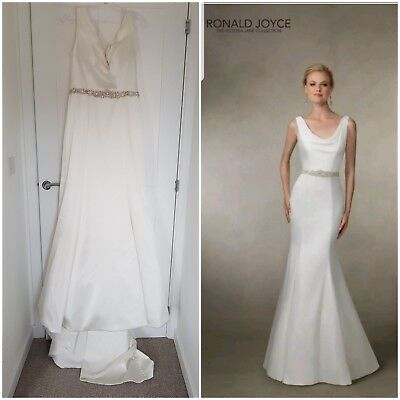 e20d693aac Ronald Joyce Victoria Jane 18019 Wedding Dress Gown Ivory Size 14 WT  MakeAnOffer