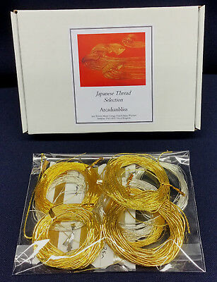 """JAPANESE """"JAP"""" THREAD BARGAIN SELECTION 8 GOLD, 4 SILVER FROM 0.2 TO 1.3mm DIA."""