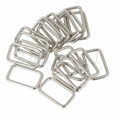 20Pcs Nickel plated multi-functional Rectangle Rings 4.6cm x 2.7cm x 0.4cm