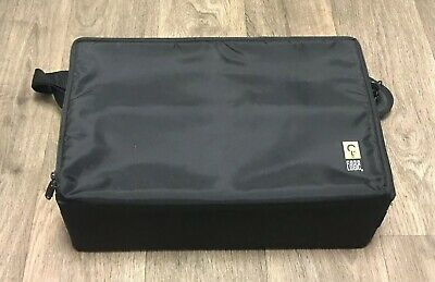 "Black CASE LOGIC Portable 60 CD Compact Disc Carrying Case Bag DJ - RARE 11""x17"""