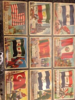 A & B C Gum - Flags of the World (L80) - Complete Set
