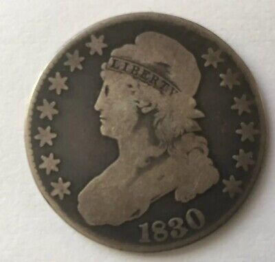 1830 Silver Capped Bust Dollar, Large DATE