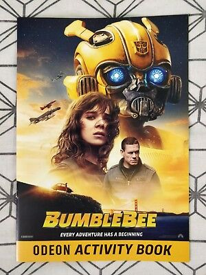 Transformers Bumblebee ODEON Activity Book - 6 Pages (2018 Movie) Children Kids
