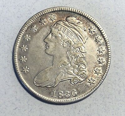 1836 Capped Bust 50C Half Dollar