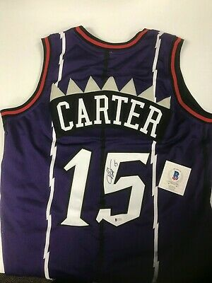 RAPTORS VINCE CARTER Authentic Signed White USA Jersey BAS Witnessed ... 3c30db5d6