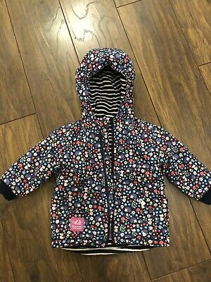 Jojo Maman Bebe Girls 12-18 Months Reversible Coat Jacket