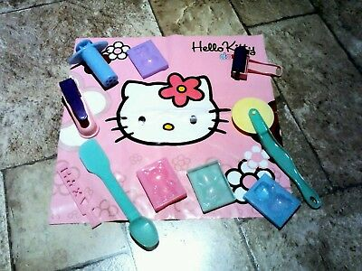 Hello Kitty dough set accessories tools moulds play dough