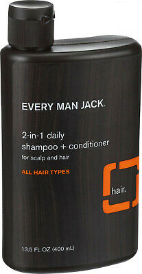 Every Man Jack 2 in 1 Daily Shampoo plus Conditioner, All Hair Types - 13.5 oz