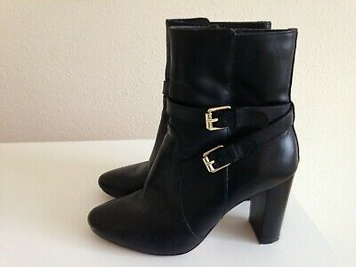 24a1a5c9edb WOMENS JASPER CONRAN Black Suede High Heel Ankle Boots Shoes Size UK ...